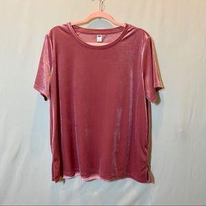 Old Navy Velvet T-shirt